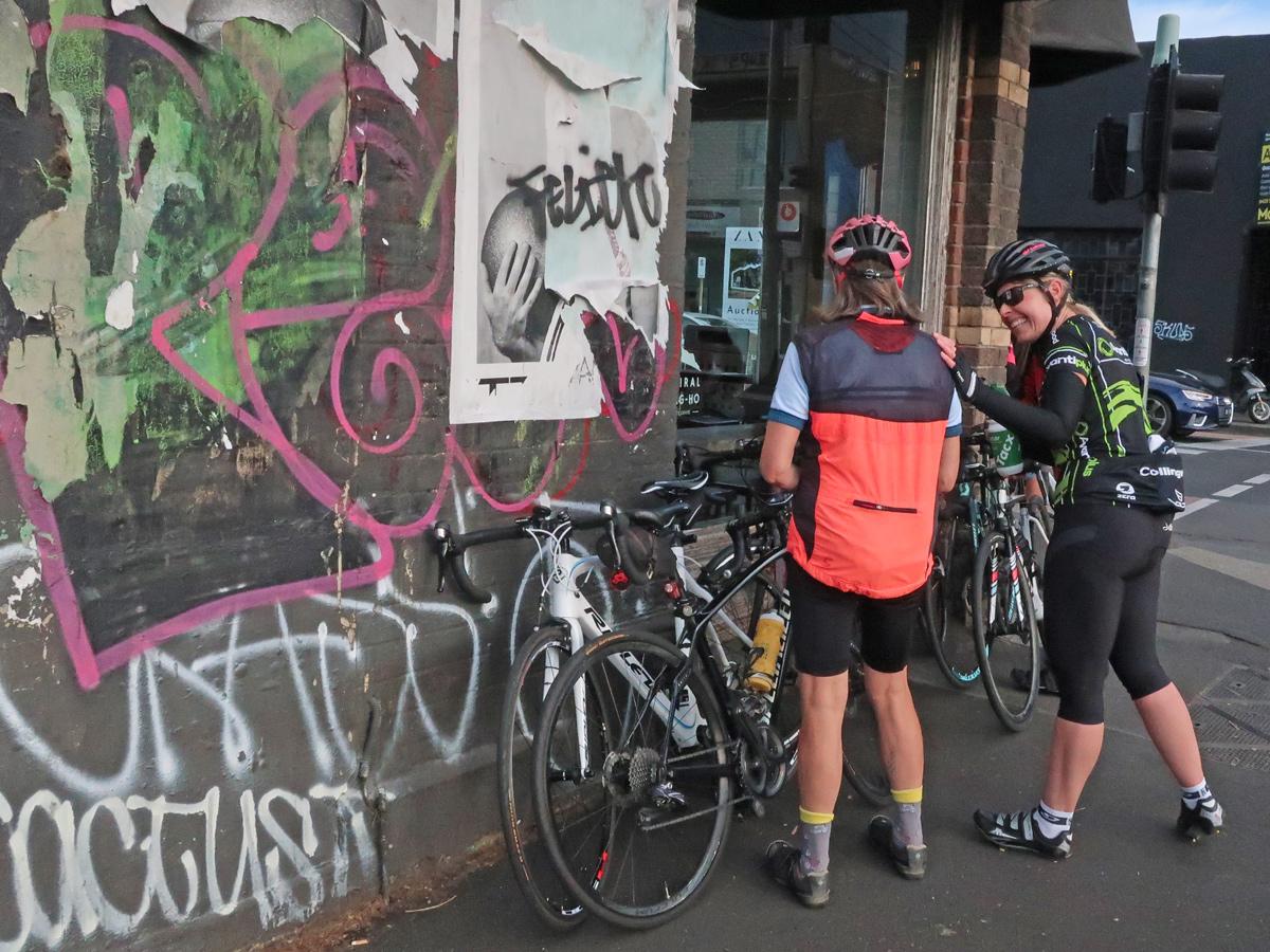 Birrarung Cycling Club  - Admiral cafe Abbotsford,  friendships