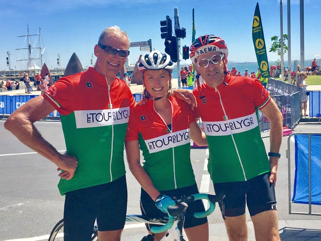 Cadel Evans Peoples Ride, Steve and daughter Grace