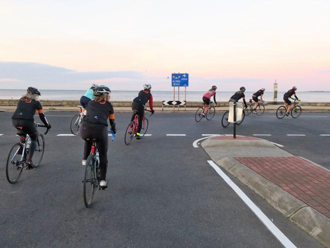 Cycles Galleria women's shop ride Altona turn off