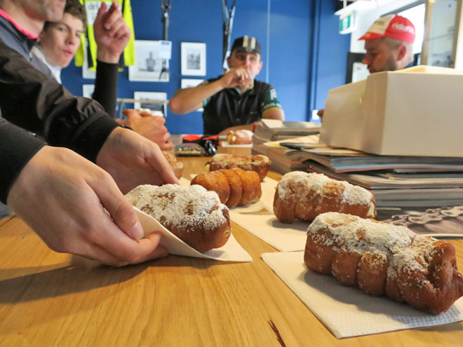 Plenty of donuts post ride at North City Cycles