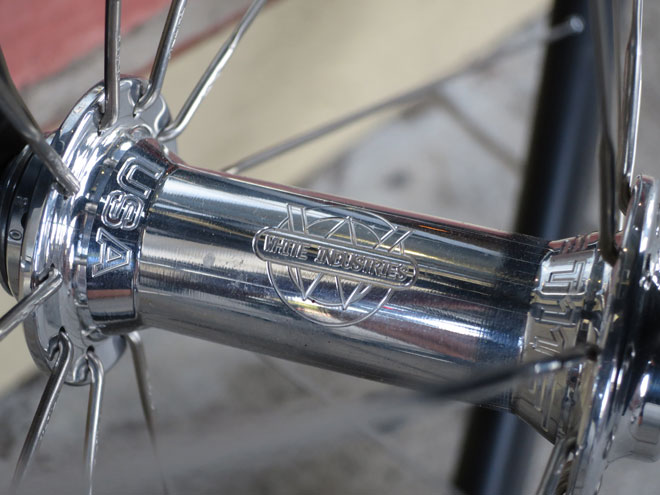 White industries front USA hub detail